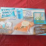 Always Fresh  Vacuum Food Sealer and Bag Refill Packs