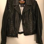 Women's M Harley Black Leather Motorcycle Jacket