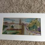 Hand painted/matted art on silk 12x21