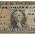 1937 A-Series 1 dollar Silver Certificate