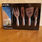 NEW Metalla Stainless Steel Smiley Face Cheese Knives