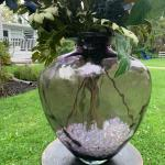 Large accent glass vase flowers !