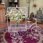 Vintage wrought iron planter!