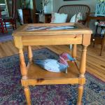 Vintage accent side table display table top !