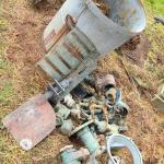 Lot 510: Farm Finds: Heavy Centrifugal Pump, Metal Valves, Parts Etc (Scrap and