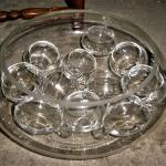 PUNCH BOWL 2 Cups 11 Ladles 2 Vintage Party Wedding Glass