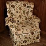 WINGBACK ARMCHAIR Crewel Needlework Upholstery Estate Chic Furniture Chair