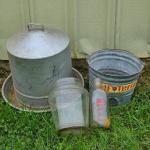 Lot 457: Farm Finds: Chicken Feeder and More