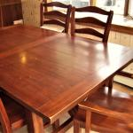 DINING TABLE CHAIRS Set LEVITTS Country Rustic Wood Vintage Solid