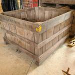 Lot 489: Farmhouse Farm Wood Local NJ Industrial Produce Crate/Bin