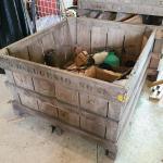 Lot 490: Huge Wood Farmhouse Crate/Bin
