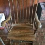 Sweet antique painted rocking chair