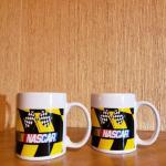 Official NASCAR Yellow and Black Checkered Flag 2007 Coffee Mug.