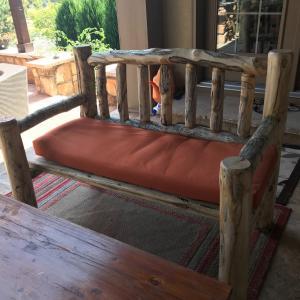 Photo of Birch log furniture set