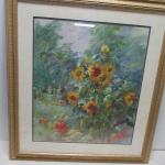 """Framed Artist Signed """"Sunflowers In The Breeze"""" Picture 31"""" x 35"""""""