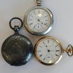 Lot J3: Pocket Watches: Hampton, Trenton, and More