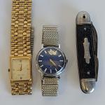 J7: Vintage Waltham Watches & Pocket Knife