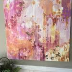 Pop of pink wall art