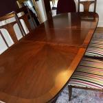 Lineage line mahogany dining room set