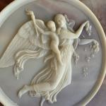 Vintage Incolay Blue Stone Jewelry Box Goddess! 973-600-3177