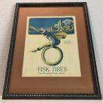 Framed Vintage Print by Maxfield Parrish for Fisk Tires and Rubber Company