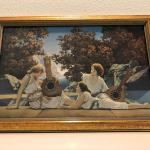 Vintage Framed Print of the Lute Players by Maxfield Parrish