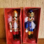 These are a Beautiful (Pair) of Wood Christmas Tree Nutcracker Ornaments