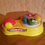 Vintage Disney Color Spin Toy. Mickey and Minnie Mouse by MATTEL 1986