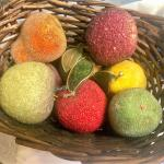 Basket of Decorative Fruit - Nice Table Decor for Thanksgiving & Other Occasions