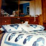 Solid Oak Bookcase Storage Bed
