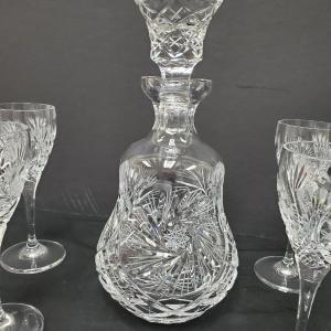 Photo of Decadent 'Irena' Buzzstar Brandy decanter and 6 glasses