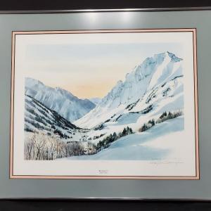 Photo of Mt. Superior, Alta Utah  by N. Taylor Stonington Print