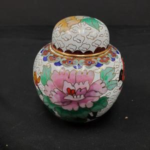 Photo of Small lidded Cloisonne Ginger Jar