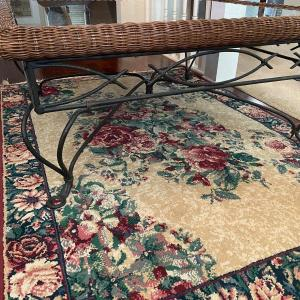 Photo of Large, Square, Wicker, Rod Iron, and Class Table