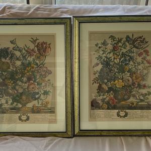 Photo of Vintage Edward Arts Framed Month Prints