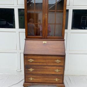 Photo of Antique Jasper Cabinets Company Secretary Desk with Hutch