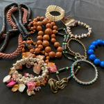 Lot of Mixed Necklaces and Bracelets with Large Beads