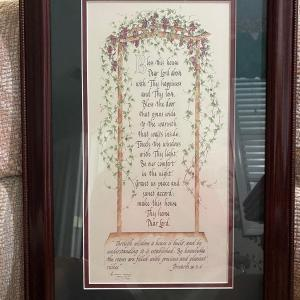 Photo of Framed Calligraphy Print