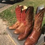 Tony Lama ostrich skin boots size 9 1/2