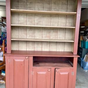 Photo of Lot 79 - Vintage Wood Farmhouse Hutch