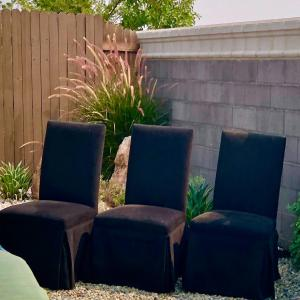 Photo of Lot 77-Set of Chenille Parsons Chairs
