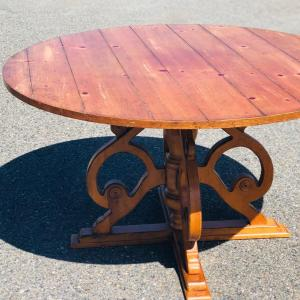 Photo of Lot 72 - Round Table, Pine by Drexel Heritage