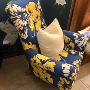Photo of Lot 74- 🌼Blue Flower Power Chair🌼
