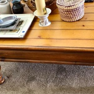 Photo of Lot 71 - Square Pine Coffee Table/Drexel Heritage