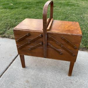 Photo of Lot 64 - Vintage Accordion Sewing Box