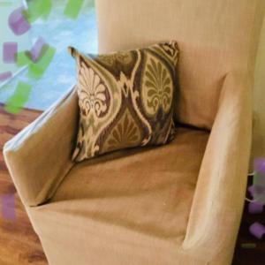 Photo of Lot 75 - Restoration Hardware Linen Chair