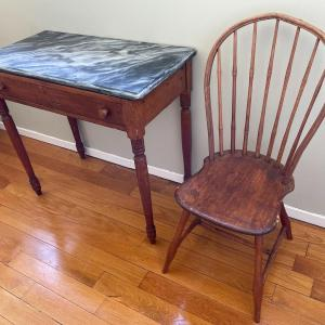 Photo of Marble-top Desk and Chair