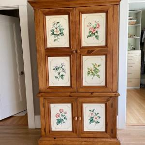 Photo of Floral Entertainment Cabinet