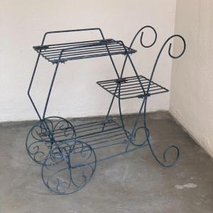 Photo of Lot 88 - Vintage Metal Flower Cart Plant Stand