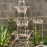 LOT 93-Wrought Iron Tiered Display